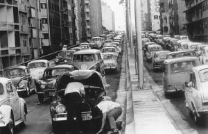 O transito em São Paulo na década de 1970